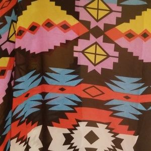 Tops - 🆕️Boho colorful print sheer cover up
